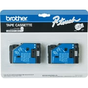 "Brother 2pk 1/2"" Black on Clear tape"
