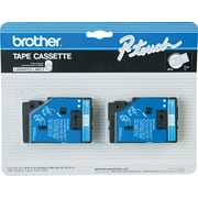 "Brother® TC Series Laminated Label Tape, 1/2"" x 25', Blue on White"