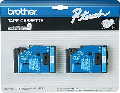 Brother® TC Series Laminated Label Tape, 1/2