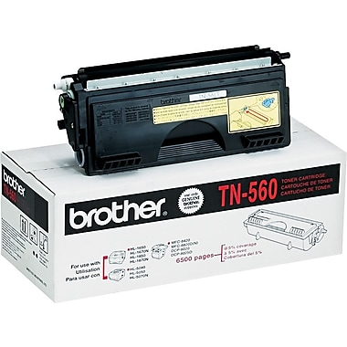 Brother TN560 Black Toner Cartridge, High Yield (TN560)