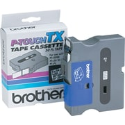 "Brother 3/4"" Black on Clear tape"