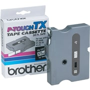 "Brother 3/8"" Black on White tape"