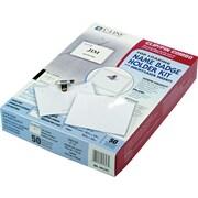 """C-line Laser/Ink Jet Badge Holder Kit, Top Load, Clear, 4""""x 3"""""""