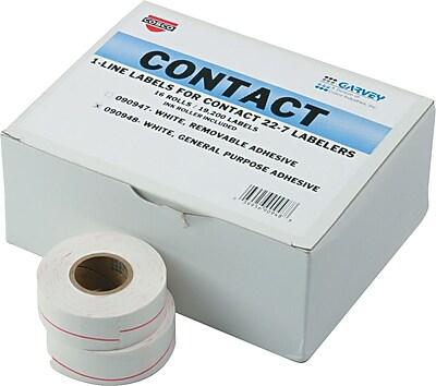 Garvey® Pricemarker Labels for Model 22-7, 1-Line, White/Red