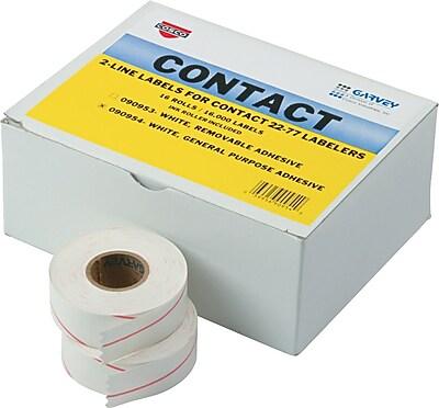 Garvey® Price Marking Labels for Model 22-77, 2-Line, White