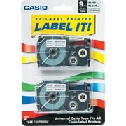 Labeling Tape, 3/8, Black on Silver