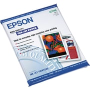 "Epson High Quality Ink Jet Paper, 8 1/2"" x 11"", 100/Pk"