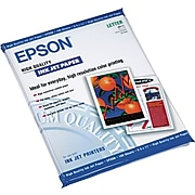 """Epson High Quality 8.5"""" x 11"""" Color Copy Paper, 24 lbs., 89 Brightness, 100/Pack (S041111)"""