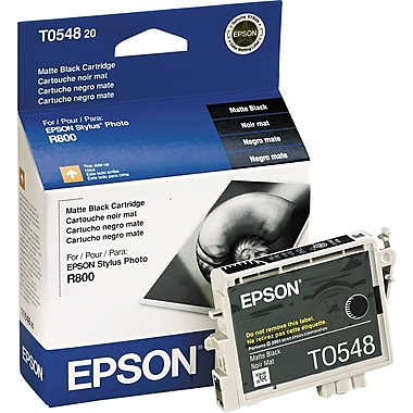 Epson 54, Matte Black Ink Cartridge (T054820)