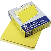 """Pendaflex Two-Tone Top Tab File Folder, Yellow/Light Yellow, LETTER-size Holds 8 1/2"""" x 11"""", 100/Bx"""