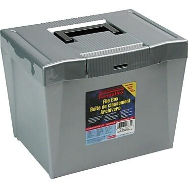 Pendaflex Portable Hanging File Box, Steel Gray, 10 1/4