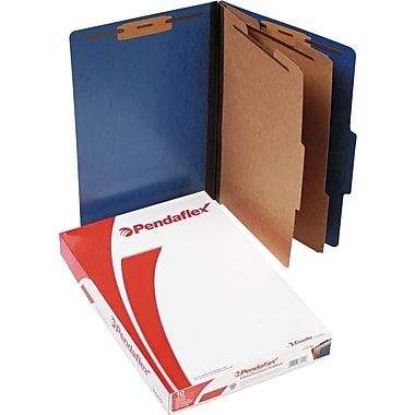 Pendaflex® Coloured PressGuard® Classification Folder with # 1 and 3 Fastener Position, Legal, Blue