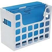 "Oxford® Decoflex Hanging File Folder, Plastic, Granite, 9 1/2""H x 12 3/16""W x 6""D (ESS23054)"