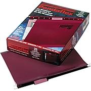Pendaflex Reinforced Hanging File Folders, 1/5 Tab, Letter Size, Burgundy, 25/Box (PFX 4152 1/5 BUR)