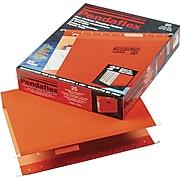 "Pendaflex Reinforced Recycled Hanging File Folder, 2"" Expansion, 5-Tab Tab, Letter Size, Orange, 25/Box (PFX 04152X2 ORA)"
