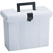 Esselte Portfile Plastic File Box w/ Hinged Lid, Letter Size, Granite (ESS41737)