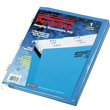 Pendaflex® Hanging Expandable File, Letter, A-Z Index, 9 Pockets, Each