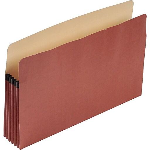 "Pendaflex Earthwise File Pocket, 5.24"" Expansion, Legal Size, Redrope, 10/Box (PFX E1536G)"