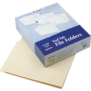 "Pendaflex End Tab File Folder, 2 Fasteners, Manila, LETTER-size Holds 8 1/2"" x 11"", 50/Box"