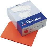 Pendaflex® Color End Tab Folders, Orange (H110DOR)