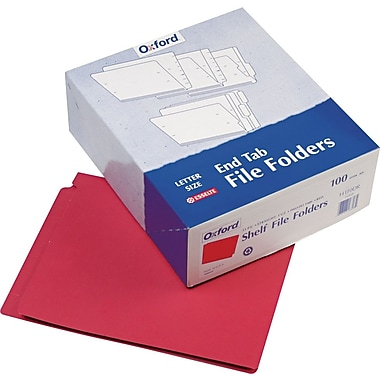 Pendaflex® Color End Tab Folders, Red (H110DR)