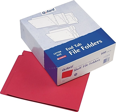 Pendaflex® Colored End-Tab Folders, Red