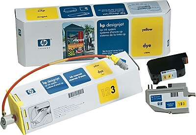 HP DesignJet CP Yellow Dye Ink System (C1809A), 410ml