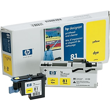 HP 81 Yellow Printhead and Cleaner (C4953A)