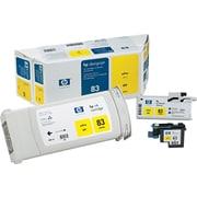 Valu-Pk Ink Jet 83 UV, Cartrdge/Printhd/Cleaner for DesignJet 5000, Yellow