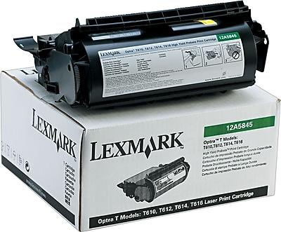 Lexmark 12A5845 Black Return Program Toner Cartridge, High Yield