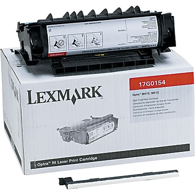 Lexmark 17G0154 Black Toner Cartridge, High Yield