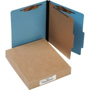 "ColorLife® PRESSTEX® Classification Folder with Fasteners, Light Blue, Letter size Holds 8 1/2"" x 11"" Sheets, 10/Pk"