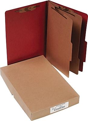 ACCO Pressboard Legal Size Classification Folder, 6 Parts, 10/Box (16036)