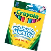 Crayola® Washable Broad Line Markers, Assorted Colors, 8/Box