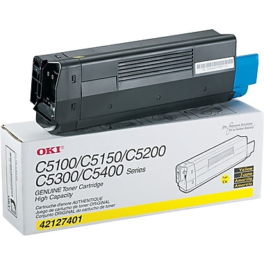 OKI 42127401 Yellow Toner Cartridge, High Yield