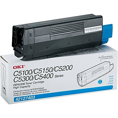 OKI 42127403 Cyan Toner Cartridge, High Yield