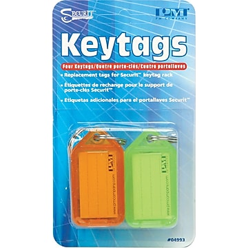 PM Company Replacement Key Tags, 4/Pk