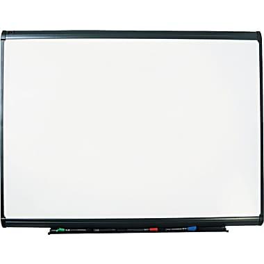 Quartet® Prestige Plus® DuraMax® Porcelain Dry-Erase Board with Graphite Frame, 4' x 3'