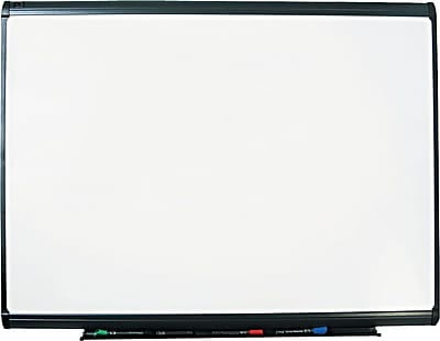 Quartet® Prestige Plus® DuraMax® Porcelain Dry-Erase Board with Graphite Frame, 4' x 3'