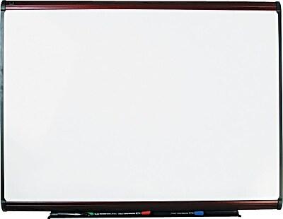 Quartet® Prestige Plus® DuraMax® Porcelain Dry-Erase Board with Mahogany Finish Frame, 4'x3'