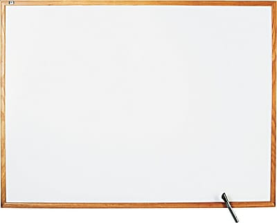 Quartet® Classic Whiteboard, Oak Finish Frame, 4'W x 3'H (S574)