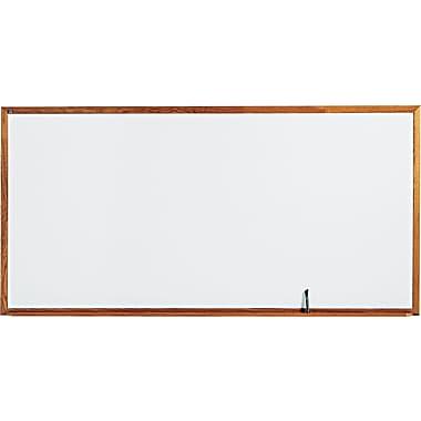 Quartet® Standard Whiteboard, 8' x 4', Oak Finish Frame (S578)