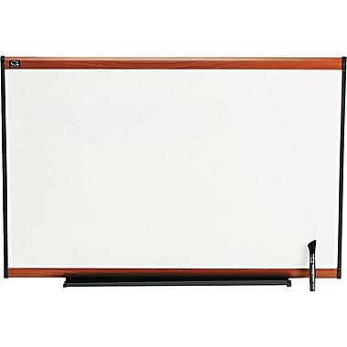 Quartet® Prestige® Total Erase® Dry-Erase Boards with Light Cherry Frame