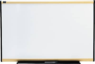 Quartet® Prestige® Total Erase® Whiteboard, Maple Finish Frame, 3'W x 2'H