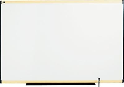 Quartet® Prestige® Total Erase® Whiteboard, Maple Finish Frame, 6'W x 4'H