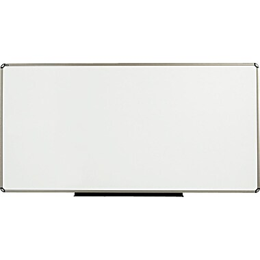 Quartet® Prestige® Total Erase® Whiteboard, 8' x 4', Euro™ Frame, Writing Grid (TE568T)