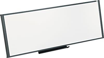 Quartet® Prestige® Total Erase® Cubicle Whiteboard, Graphite Frame, 4'W x 1 1/2'H (WM4818)