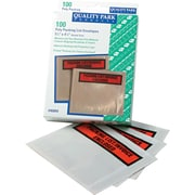 "Quality Park Panel Face Self-Adhesive ""Packing List/Invoice Enclosed"" Envelopes, Orange/Clear, 5 1/2""H x 4 1/2""W, 100/Bx"