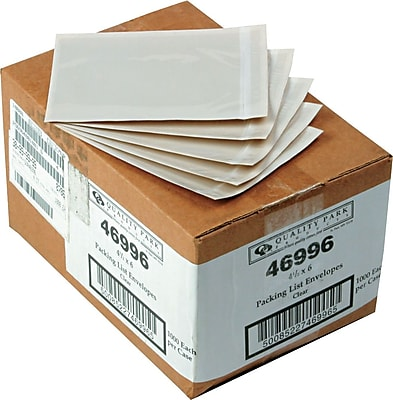Quality Park Self-Adhesive Packing List Envelope, Clear, 4 1/2