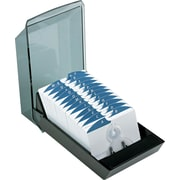 "Rolodex® VIP Series Covered Card Files, 2 1/4"" x 4"", Black"